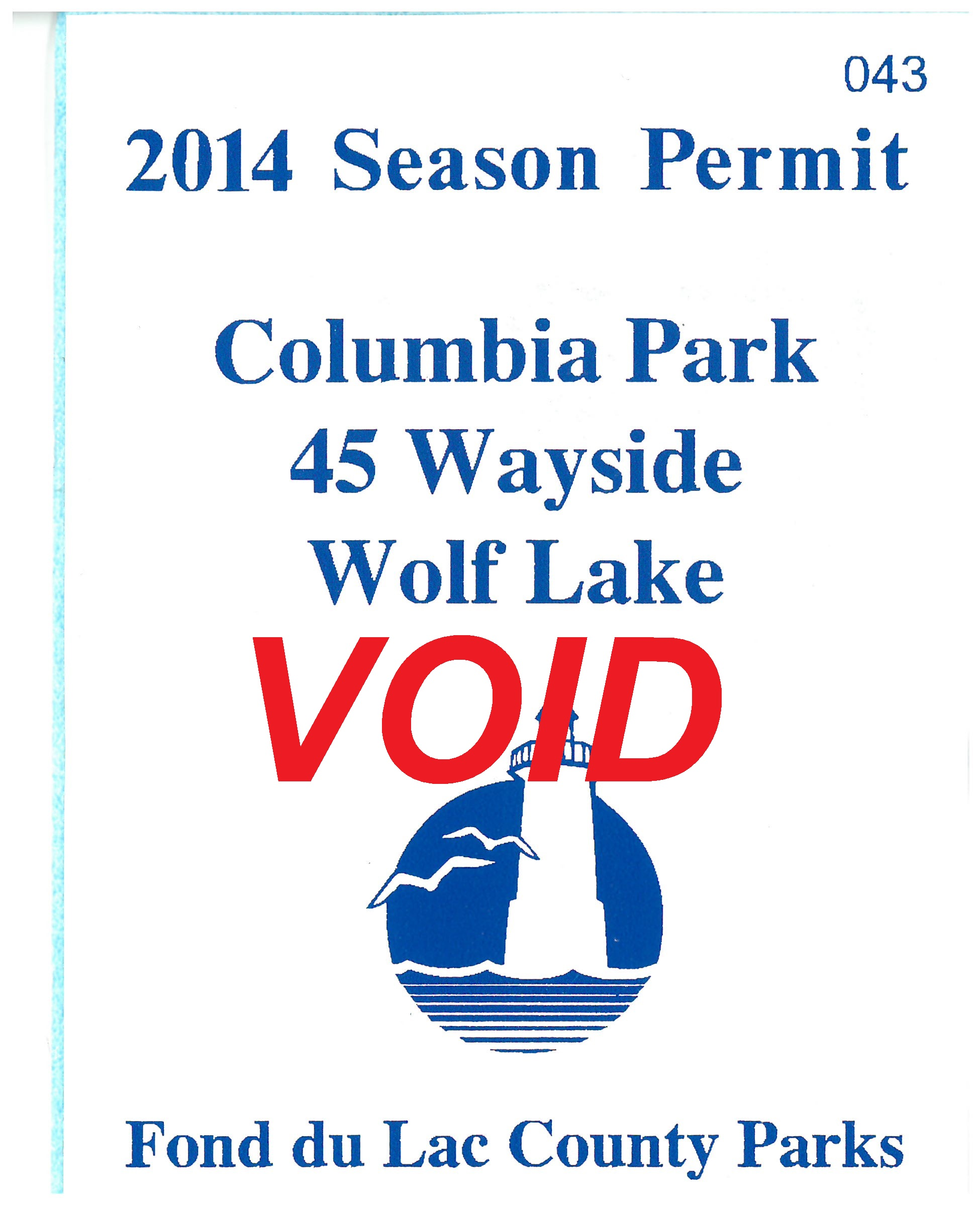 Fond du Lac County Boat Launch Permit